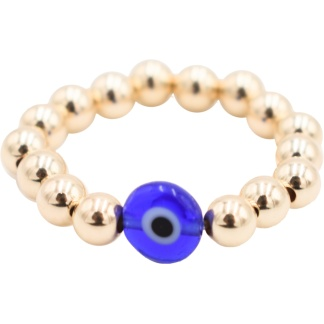 Oro Talis 14K gold-filled beads with Evil Eye